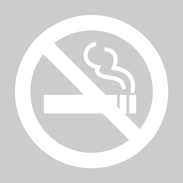 禁煙ステッカー 白